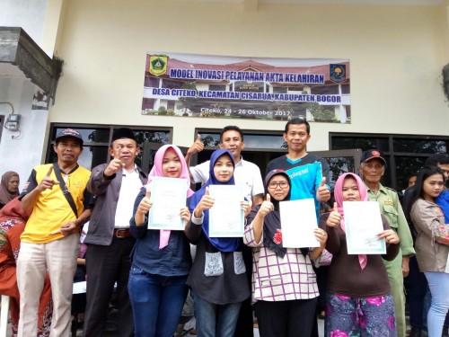 Acara FGD Tahap II Uji Coba Rekayasa Model Inovasi Pelayanan Akta Kelahiran di Kabupaten Bogor